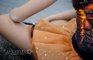 Tenue de danseuses pour les filles du Twirling bâton