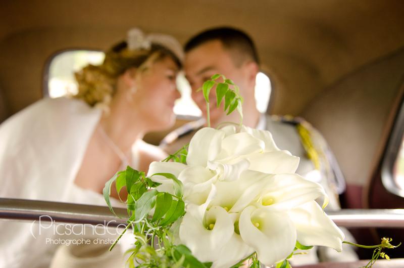 Un bouquet d'arum pour la mariée