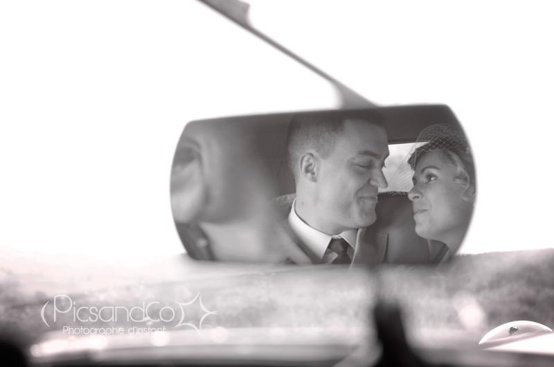 Couple d'amoureux le jour du mariage