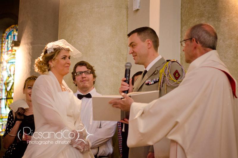 Echange des voeux entre les mariés