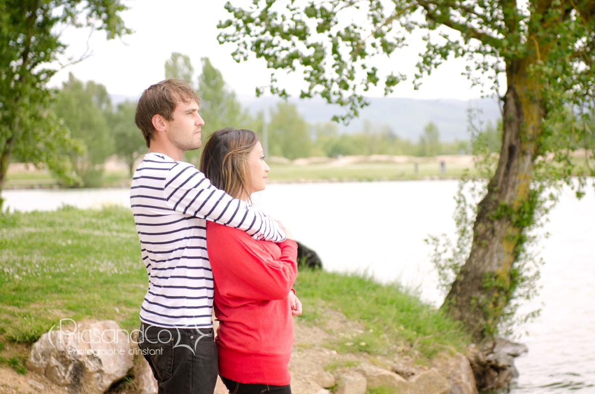 Séance couple au bord du lac du Dicosa