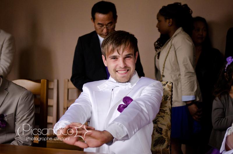 Emotion du mariée en début de cérémonie