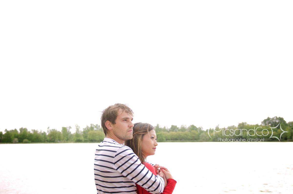 Photo de couple faite 1 mois avant le mariage