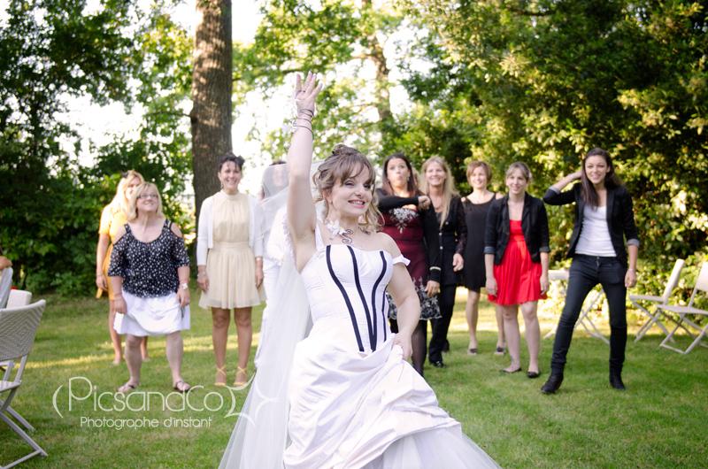 Lancement du bouquet pour une future mariée