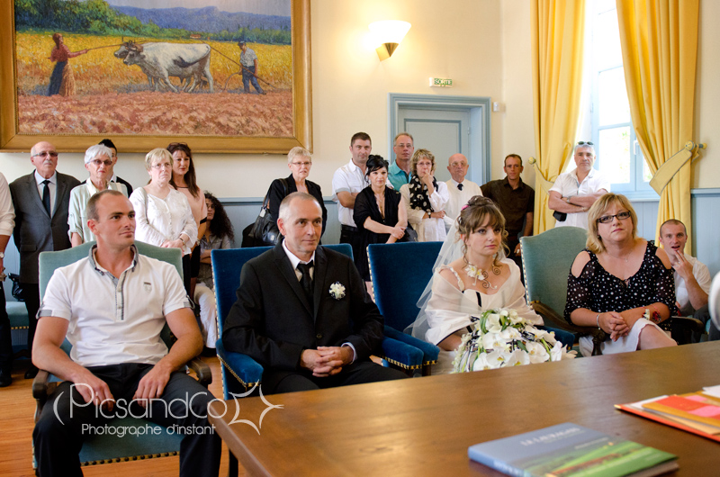 Mariage civil à la mairie de Revel