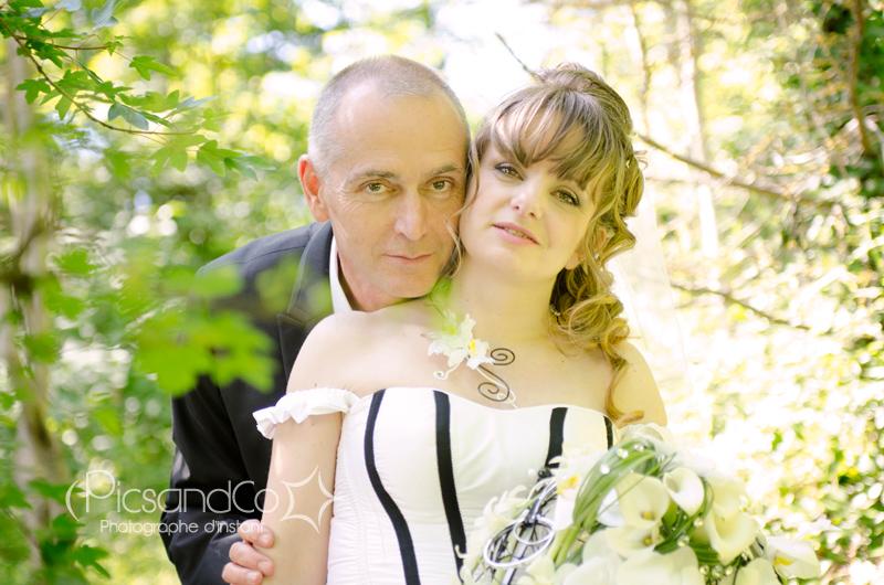 Portrait du couple lors du mariage