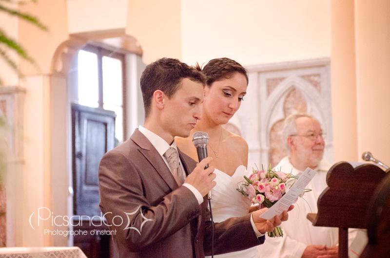 Discours des mariés pour le début de la cérémonie religieuse
