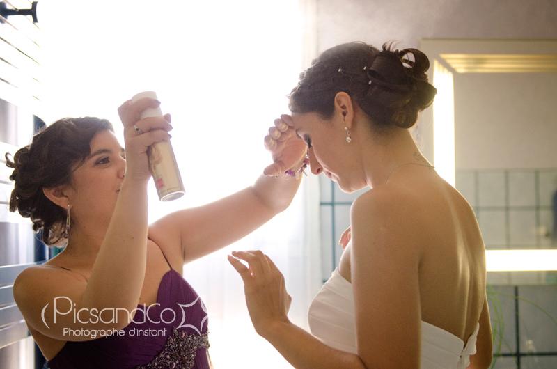 Petite retouche de la mariée avant le mariage