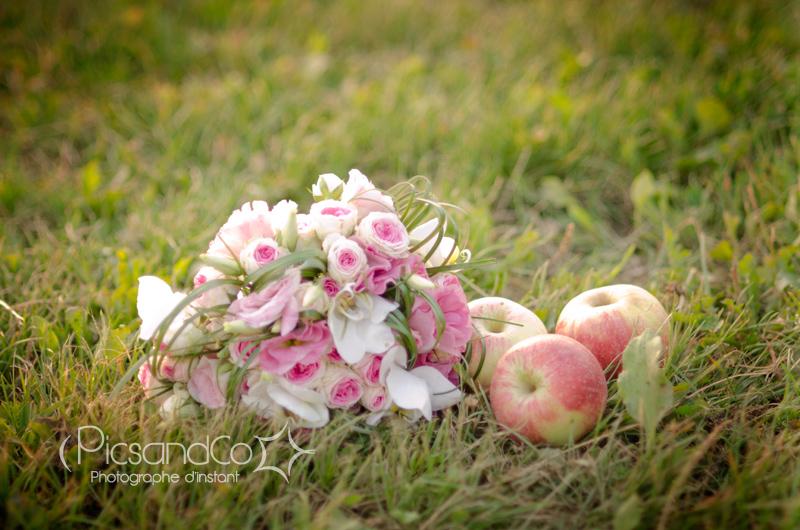 Bouquet de la mariée avec le pommes de Montauban