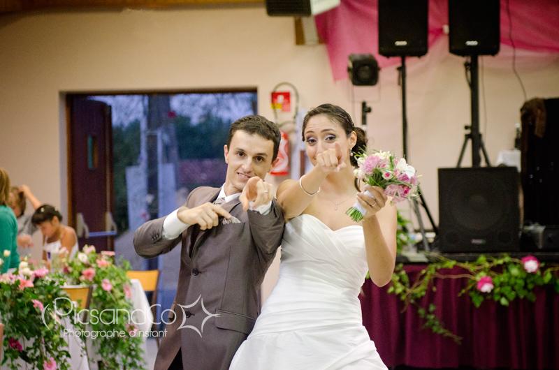 L'arrivée des mariés à la soirée du mariage