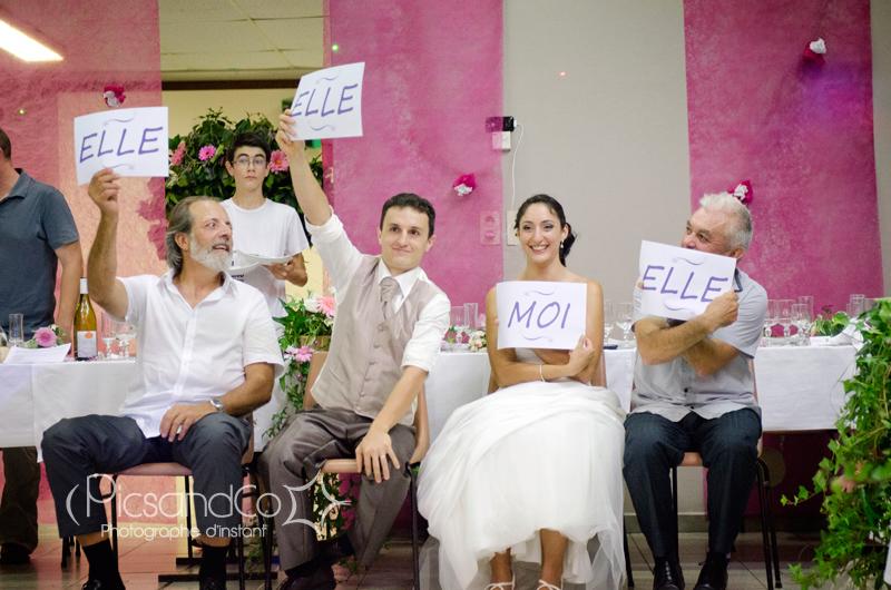 Reportage photo de la soirée du mariage avec les incontournables jeux