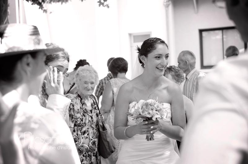 Arrivée de la mariée pour la cérémonie civile