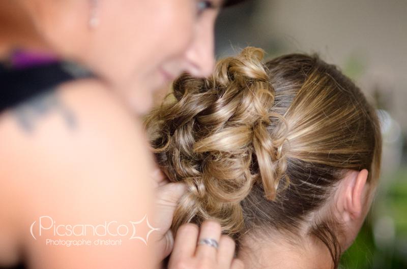 Coiffure par Julie d'Atmosp'Hair pour le mariage
