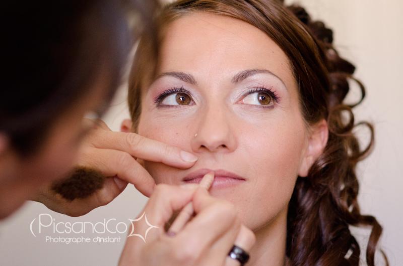 Photo de la préparation de la mariée à Villefranche de Lauragais - Toulouse