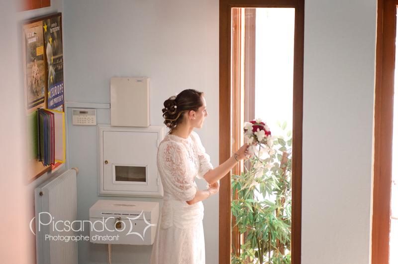 Attente de la mariée à la mairie
