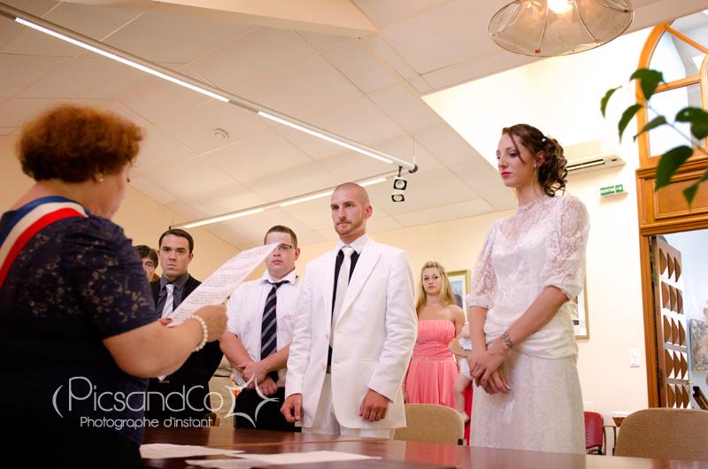 Mariage civil devant la mairesse de Drémil Lafage