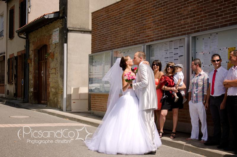 Reportage photo du mariage et retrouvaille du couple avant la cérémonie