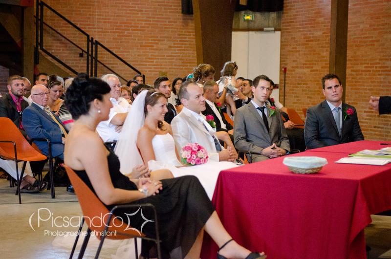 Cérémonie civile dans la salle des mariages à Villefranche de Lauragais