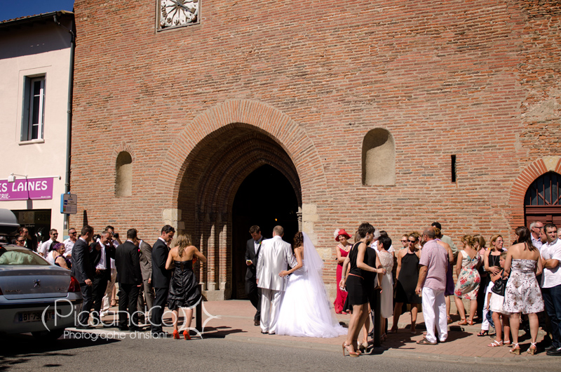 Entrée de l'église de Villefranche de Lauragais - Toulouse