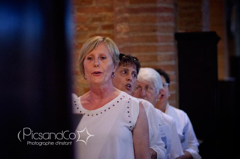 Chants de la chorale pour le mariage à l'église de Villefranche de Lauragais - Toulouse
