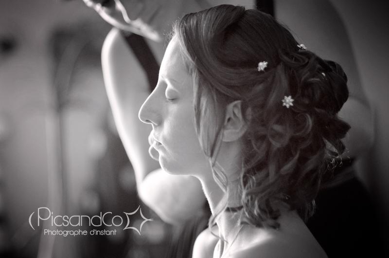 Coiffure et maquillage de la mariée par Julie Atmosp'Hair