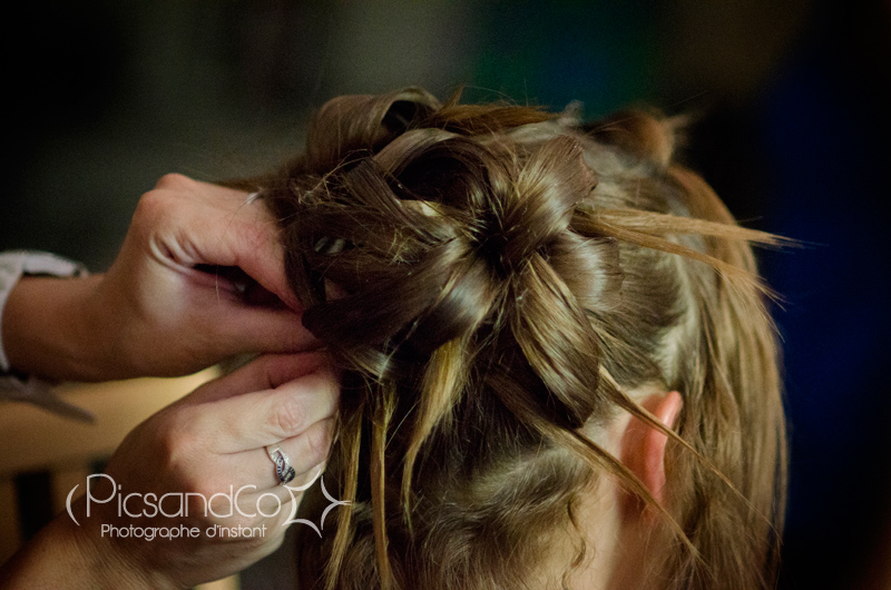 Reportage photo des préparatifs de la mariée