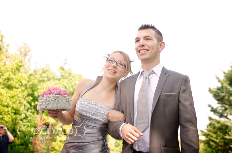 L'arrivée de la mariée au bras de son frère