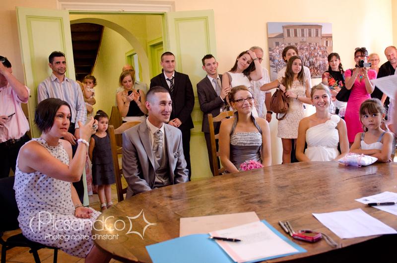 Célébration du mariage dans la mairie de Montferrand dans l'aude