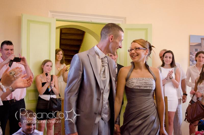 Célébration du mariage dans la salle des mariages de Montferrand dans l'aude