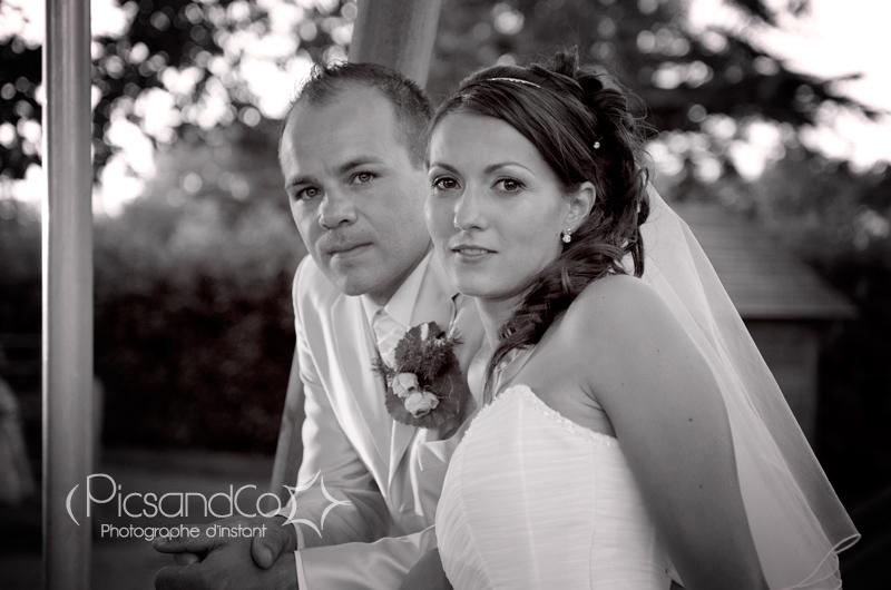 Photo de couple le jour du mariage