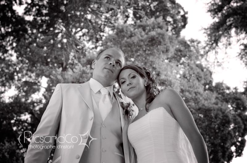 Moment photo pendant le mariage avant la soirée de fête