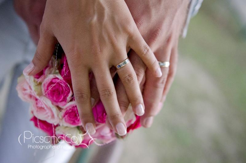 Photo de mariage dans un parc près de Toulouse