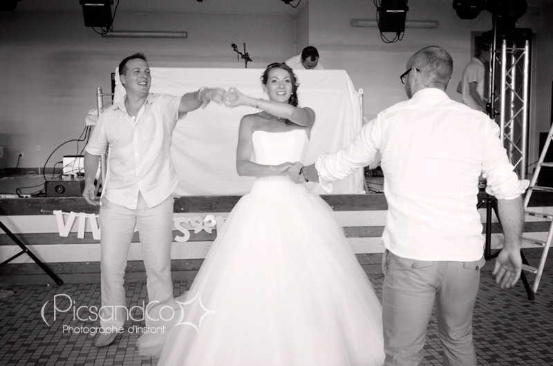 Danse pendant la soirée du mariage
