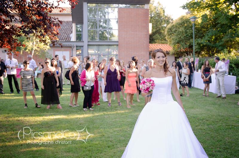 Lancée de bouquet de la mariée - Villenouvelle - Toulouse (31)