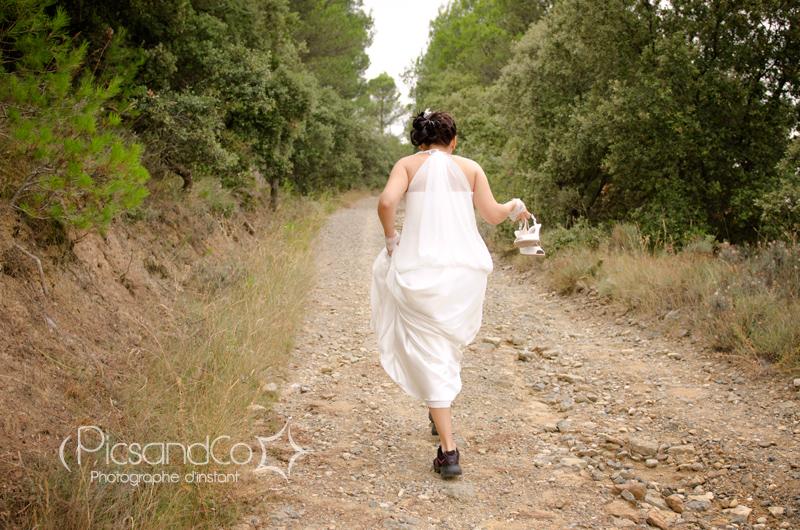Entre sentier et vignes, un mariage intimiste et plein d'émotions