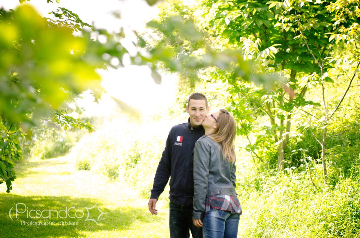 Séance couple avant le mariage dans l'aude