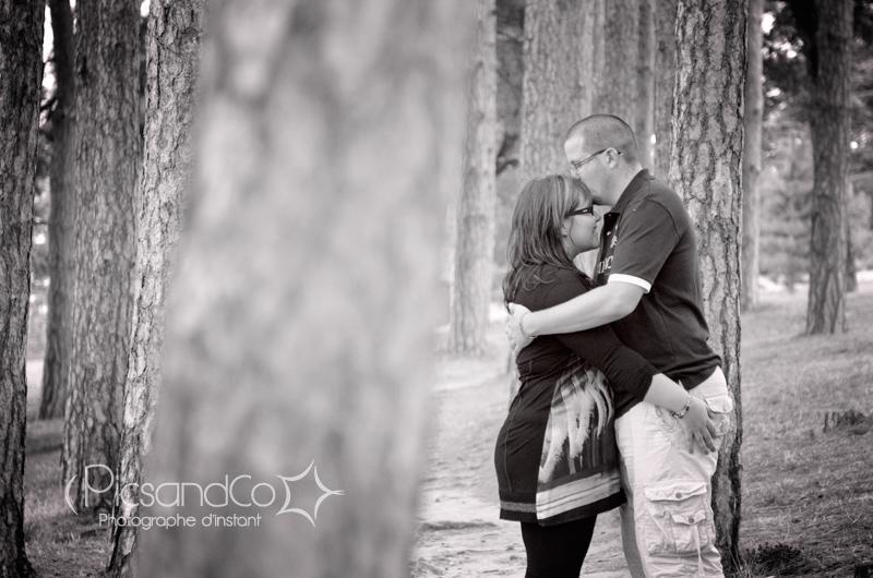 Au milieu des arbres, photo de nos amoureux du jour