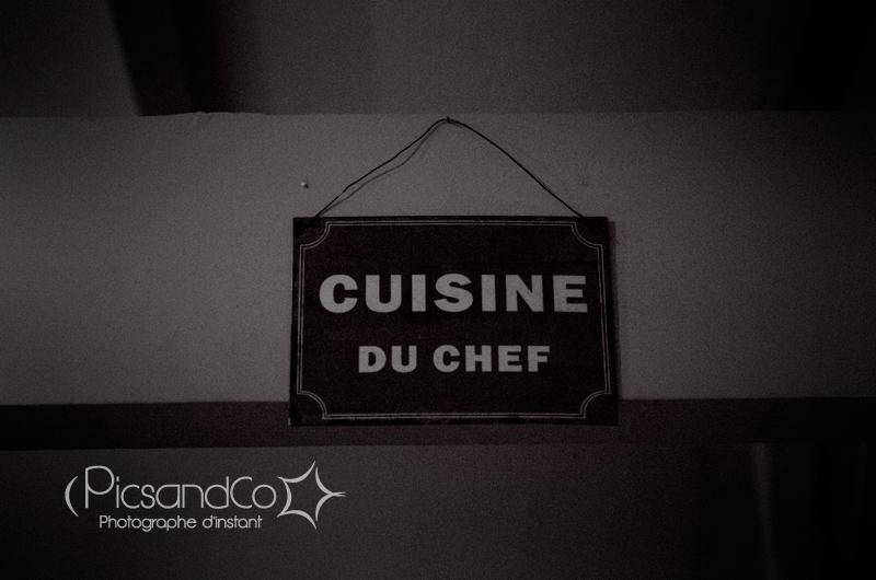 Séance photo dans les cuisine de l'Amuleto !