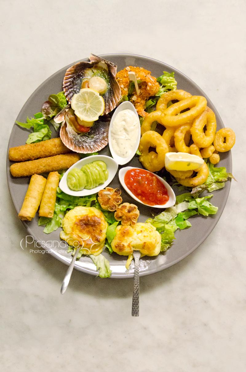 l'assiette servi à l'Amuleto - photo par PicsandCo