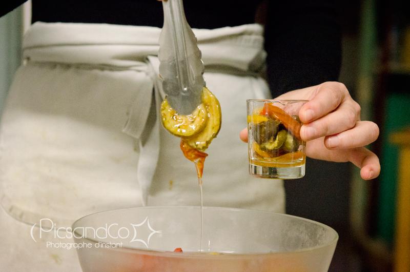 Séance photo dans les cuisines de l'Amuleto