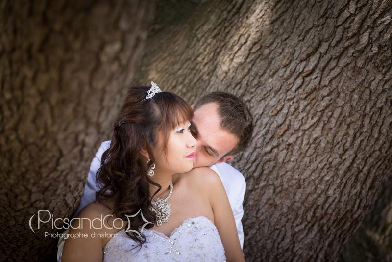 Séance couple après le mariage