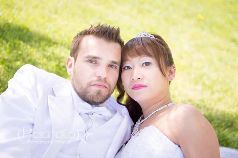 Portrait des mariés quelques mois après le mariage