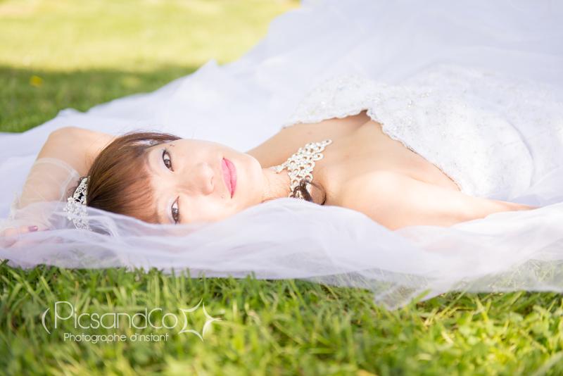 Portrait photo de la mariée