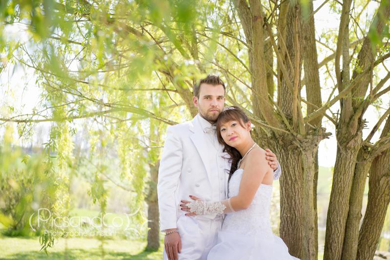 Photo de couple après le mariage