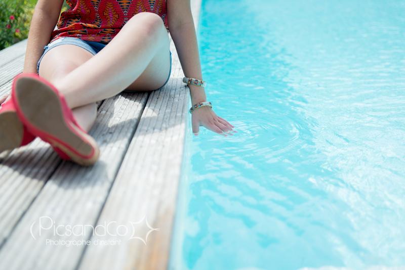 Séance en bord de piscine près de Toulouse