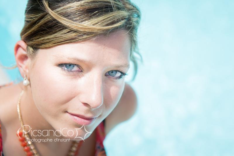 Portrait en bord de piscine près de Toulouse
